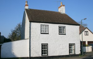 This 1740s detached three-bedroom cottage in Berkeley is among properties being auctioned by Auction House (West of England) at Thornbury Castle on April 17