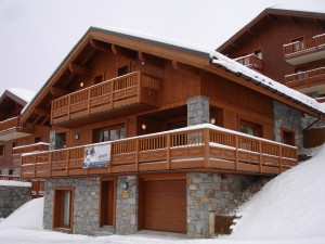The new detached three-bedroom chalet in Le Bettaix being for sale from MGM at €1,029,000 including the furnishings