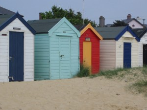 Beach huts are a enormously popular feature of the British seaside