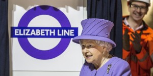 Queen Elizabeth II during a visit to the site of the new Crossrail Bond Street station, which is still under construction