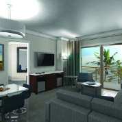 All units come fully furnished and are equipped with a full kitchen, living room and a balcony