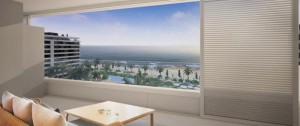 With prices at Panorama Mar starting from €234,000+VAT, every resident will be able to use the three communal swimming pools and Jacuzzi facility, as well as being given direct access to the beach promenade