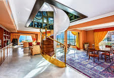 Apartment for sale in 21 Princess Grace Penthouse, Monaco, one of Monaco's most prestigious addresses. Two entrances, wide living/dining room, opening onto terraces, equipped kitchen, laundry, five bedrooms with dressing room and bathroom and guest toilet